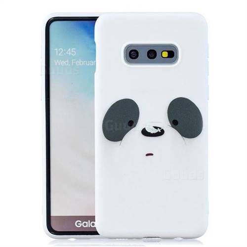 White Feather Panda Soft Kiss Candy Hand Strap Silicone Case for Samsung  Galaxy S10e (5 8 inch)