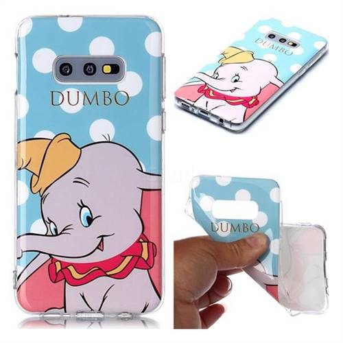Dumbo Elephant Soft TPU Cell Phone Back Cover for Samsung Galaxy S10e (5.8 inch)