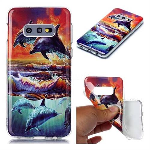 Flying Dolphin Soft TPU Cell Phone Back Cover for Samsung Galaxy S10e (5.8 inch)