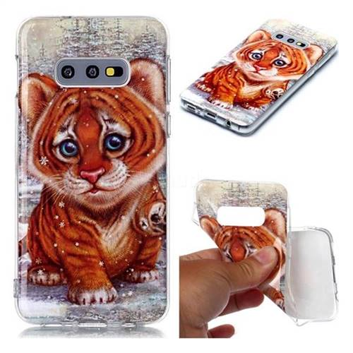 Cute Tiger Baby Soft TPU Cell Phone Back Cover for Samsung Galaxy S10e (5.8 inch)