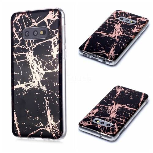 Black Galvanized Rose Gold Marble Phone Back Cover for Samsung Galaxy S10e (5.8 inch)