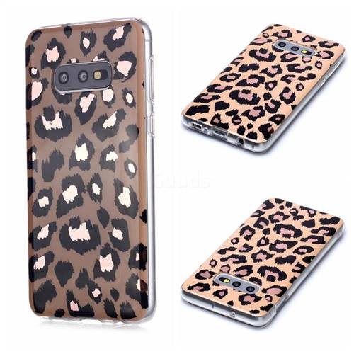 Leopard Galvanized Rose Gold Marble Phone Back Cover for Samsung Galaxy S10e (5.8 inch)