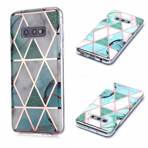 Green White Galvanized Rose Gold Marble Phone Back Cover for Samsung Galaxy S10e (5.8 inch)