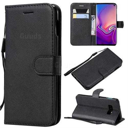 Retro Greek Classic Smooth PU Leather Wallet Phone Case for Samsung Galaxy S10 Lite(5.8 inch) - Black