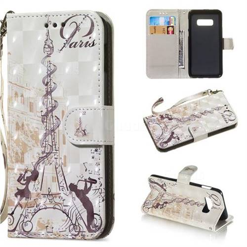 Tower Couple 3D Painted Leather Wallet Phone Case for Samsung Galaxy S10e(5.8 inch)