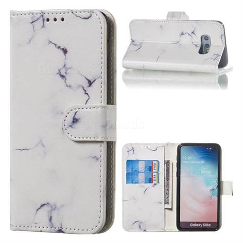 Soft White Marble PU Leather Wallet Case for Samsung Galaxy S10e (5.8 inch)