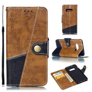 Retro Magnetic Stitching Wallet Flip Cover for Samsung Galaxy S10e (5.8 inch) - Brown