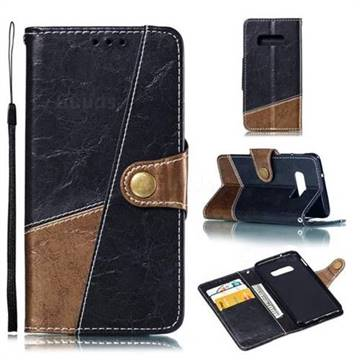 Retro Magnetic Stitching Wallet Flip Cover for Samsung Galaxy S10e (5.8 inch) - Dark Gray