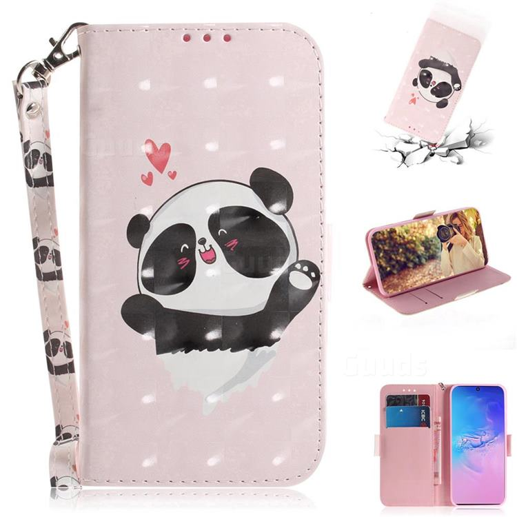 Heart Cat 3D Painted Leather Wallet Phone Case for Samsung Galaxy S10 Lite(6.7 inch)