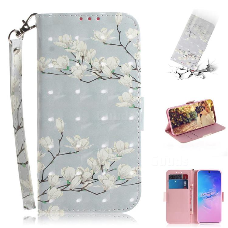 Magnolia Flower 3D Painted Leather Wallet Phone Case for Samsung Galaxy S10 Lite(6.7 inch)