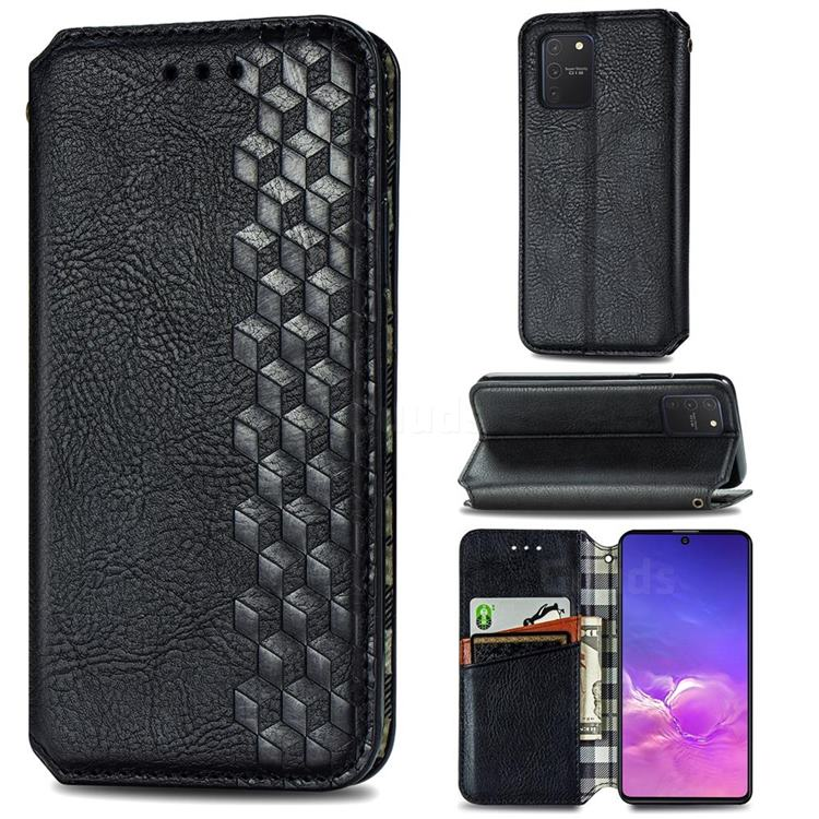 Ultra Slim Fashion Business Card Magnetic Automatic Suction Leather Flip Cover for Samsung Galaxy S10 Lite(6.7 inch) - Black