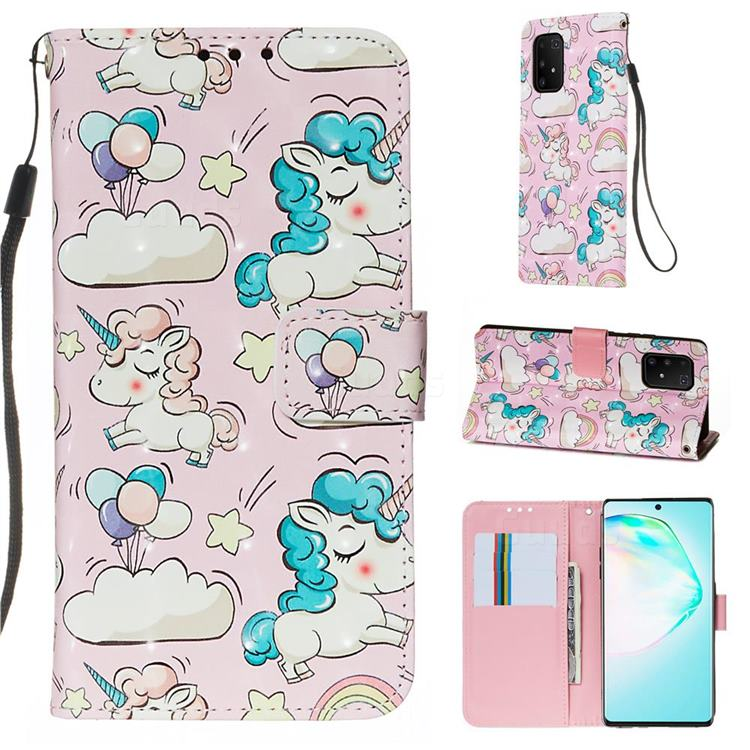Angel Pony 3D Painted Leather Wallet Case for Samsung Galaxy S10 Lite(6.7 inch)
