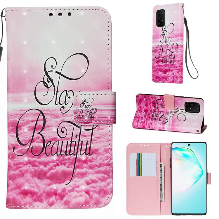Beautiful 3D Painted Leather Wallet Case for Samsung Galaxy S10 Lite(6.7 inch)