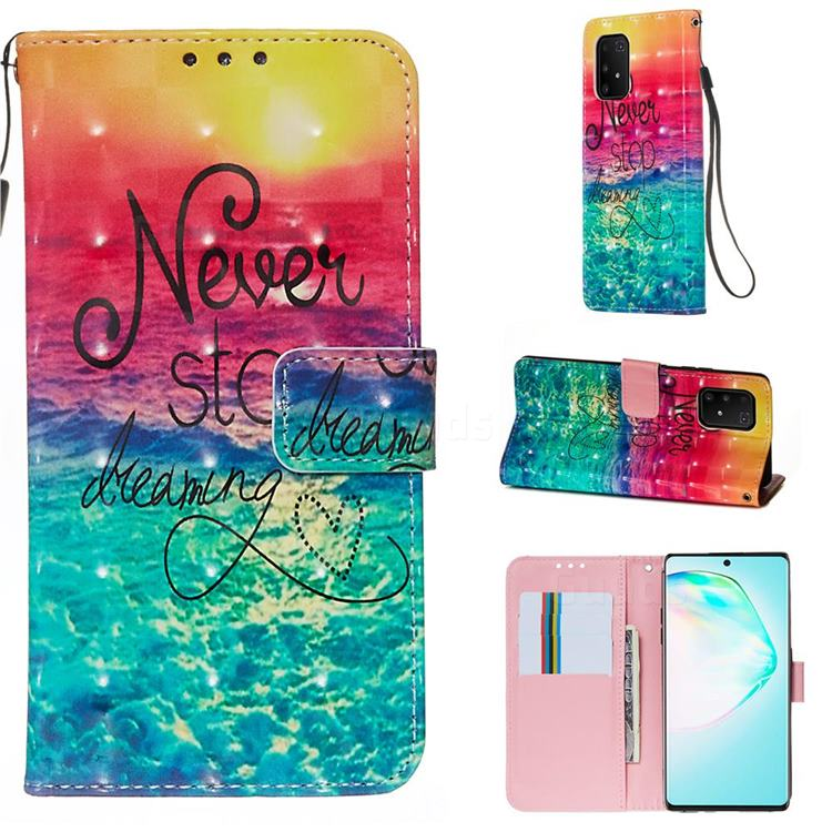 Colorful Dream Catcher 3D Painted Leather Wallet Case for Samsung Galaxy S10 Lite(6.7 inch)