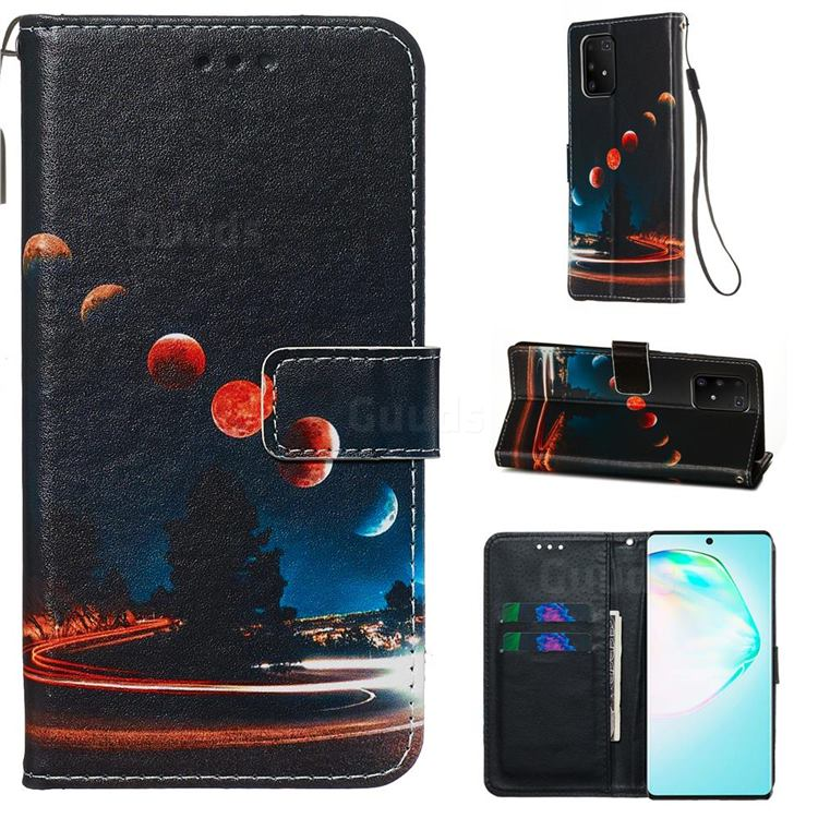 Wandering Earth Matte Leather Wallet Phone Case for Samsung Galaxy S10 Lite(6.7 inch)