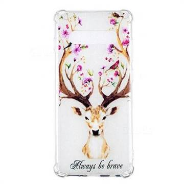 Always be Brave Anti-fall Clear Varnish Soft TPU Back Cover for Samsung Galaxy S10 Plus(6.4 inch)