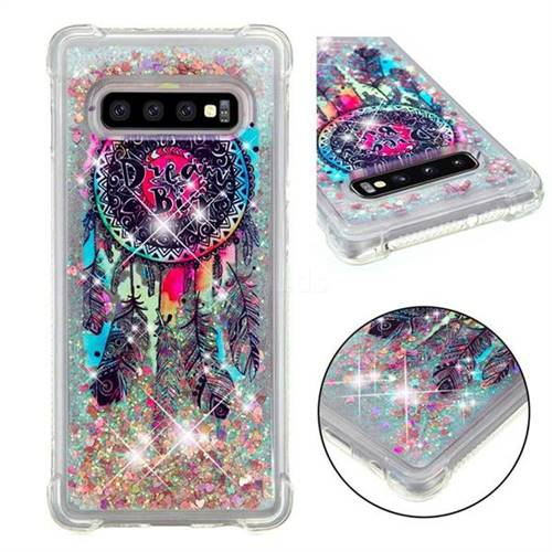 Seal Wind Chimes Dynamic Liquid Glitter Sand Quicksand Star TPU Case for Samsung Galaxy S10 Plus(6.4 inch)