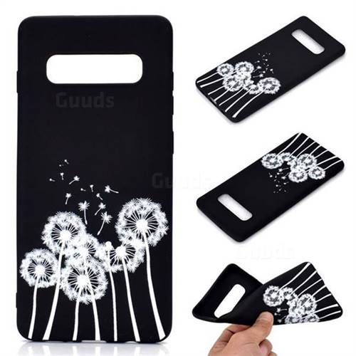 c711ea7a3f Dandelion Chalk Drawing Matte Black TPU Phone Cover for Samsung Galaxy S10  Plus(6.4 inch