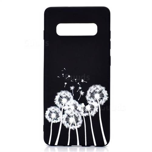 3f65fa532f Dandelion Chalk Drawing Matte Black TPU Phone Cover for Samsung Galaxy S10  Plus(6.4 inch) - Galaxy S10 Plus Cases - Guuds