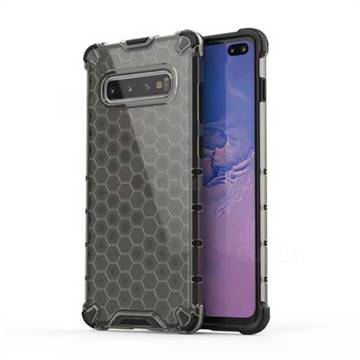 Honeycomb TPU + PC Hybrid Armor Shockproof Case Cover for Samsung Galaxy S10 Plus(6.4 inch) - Gray