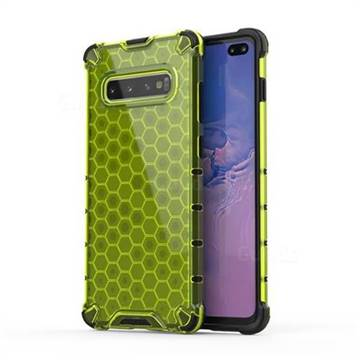 Honeycomb TPU + PC Hybrid Armor Shockproof Case Cover for Samsung Galaxy S10 Plus(6.4 inch) - Green