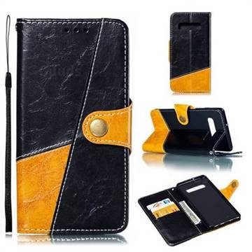 Retro Magnetic Stitching Wallet Flip Cover for Samsung Galaxy S10 Plus(6.4 inch) - Black