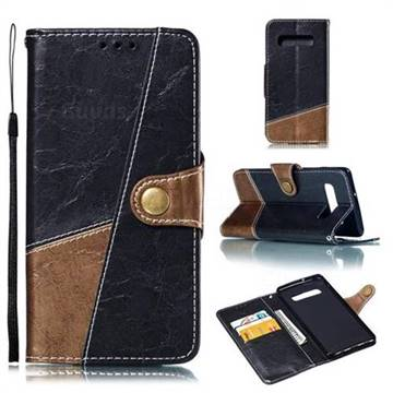 Retro Magnetic Stitching Wallet Flip Cover for Samsung Galaxy S10 Plus(6.4 inch) - Dark Gray