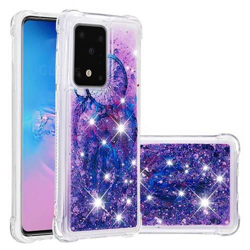 Retro Wind Chimes Dynamic Liquid Glitter Sand Quicksand Star TPU Case for Samsung Galaxy S20 Plus / S11