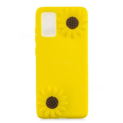 Yellow Sunflower Soft 3D Silicone Case for Samsung Galaxy S20 Plus / S11
