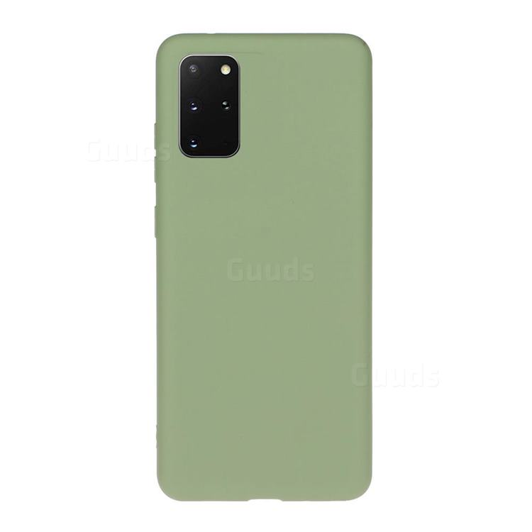 Soft Matte Silicone Phone Cover for Samsung Galaxy S20 Plus / S11 - Bean Green