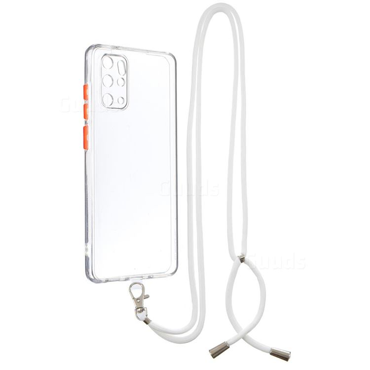 Necklace Cross-body Lanyard Strap Cord Phone Case Cover for Samsung Galaxy S20 Plus - Transparent