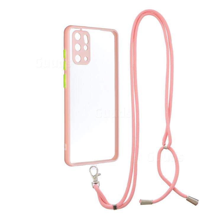 Necklace Cross-body Lanyard Strap Cord Phone Case Cover for Samsung Galaxy S20 Plus - Pink
