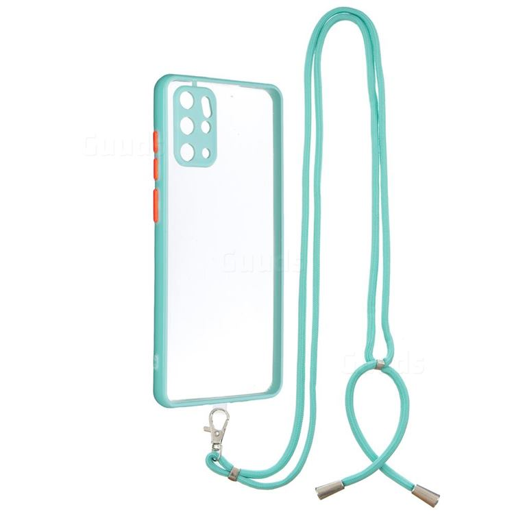 Necklace Cross-body Lanyard Strap Cord Phone Case Cover for Samsung Galaxy S20 Plus - Blue