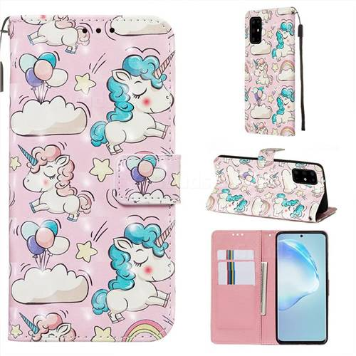 Angel Pony 3D Painted Leather Wallet Case for Samsung Galaxy S20 Plus / S11