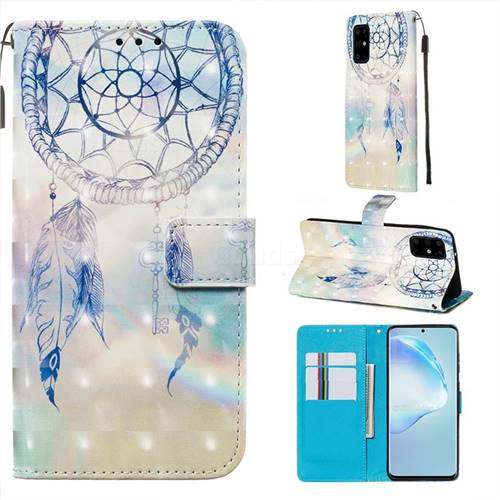 Fantasy Campanula 3D Painted Leather Wallet Case for Samsung Galaxy S20 Plus / S11