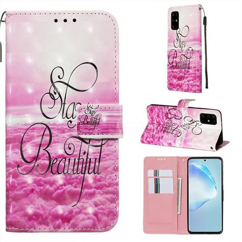 Beautiful 3D Painted Leather Wallet Case for Samsung Galaxy S20 Plus / S11