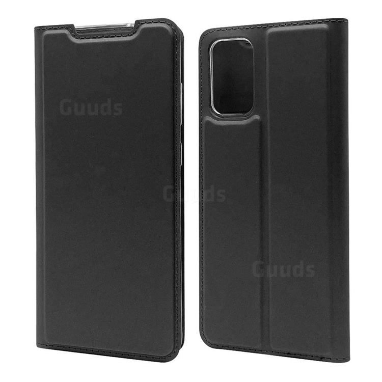 Ultra Slim Card Magnetic Automatic Suction Leather Wallet Case for Samsung Galaxy S20 Plus / S11 - Star Grey