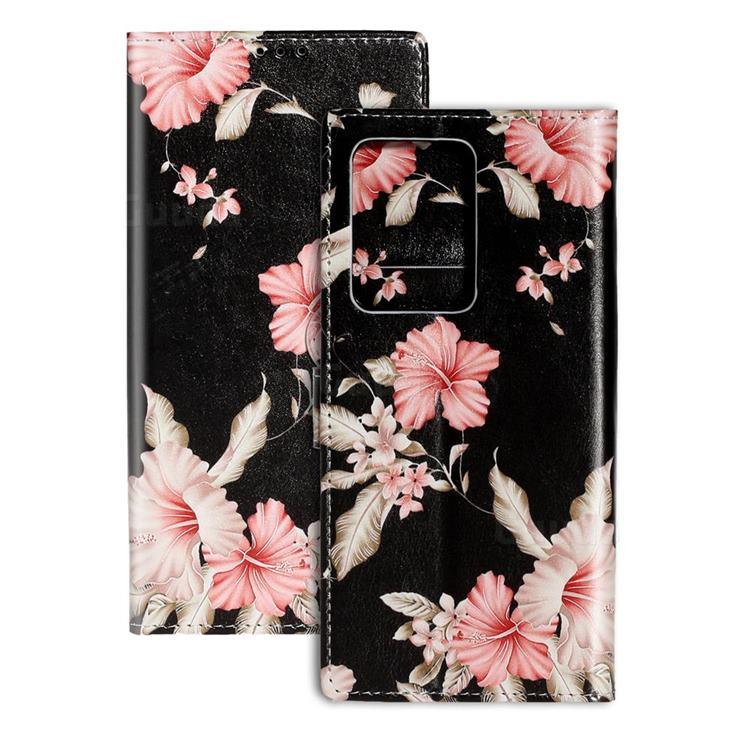 Azalea Flower PU Leather Wallet Case for Samsung Galaxy S20 Plus / S11