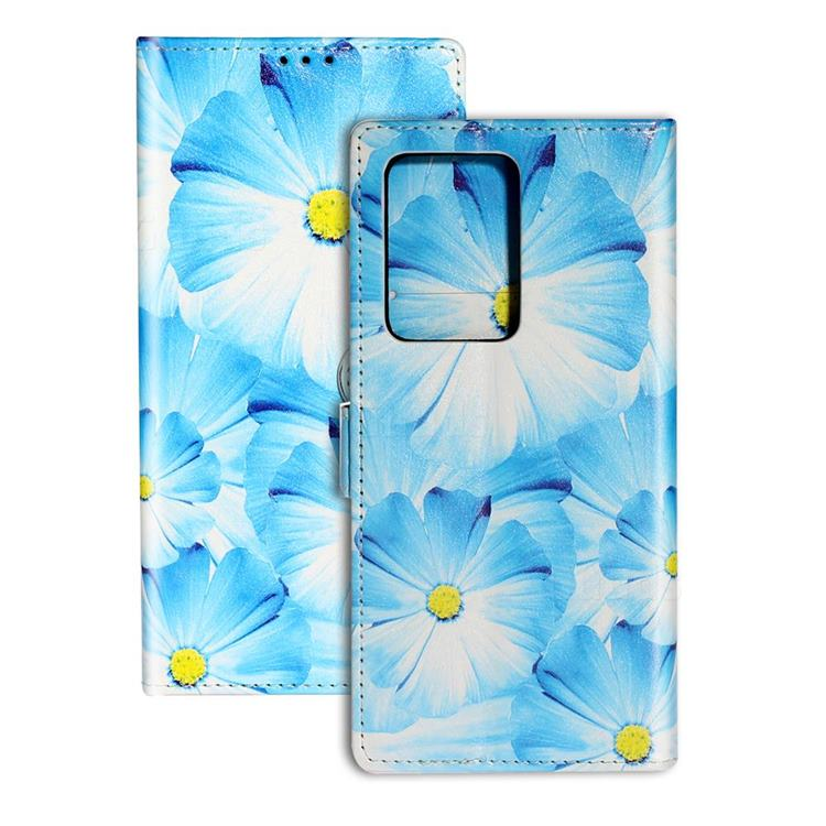 Orchid Flower PU Leather Wallet Case for Samsung Galaxy S20 Plus / S11