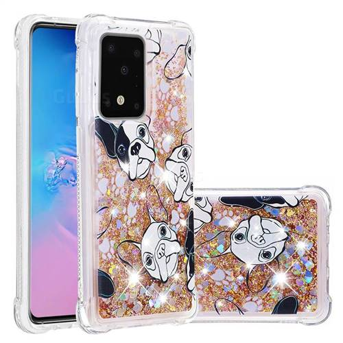 Bulldog Dynamic Liquid Glitter Sand Quicksand Star TPU Case for Samsung Galaxy S20 Ultra / S11 Plus