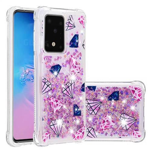 Diamond Dynamic Liquid Glitter Sand Quicksand Star TPU Case for Samsung Galaxy S20 Ultra / S11 Plus