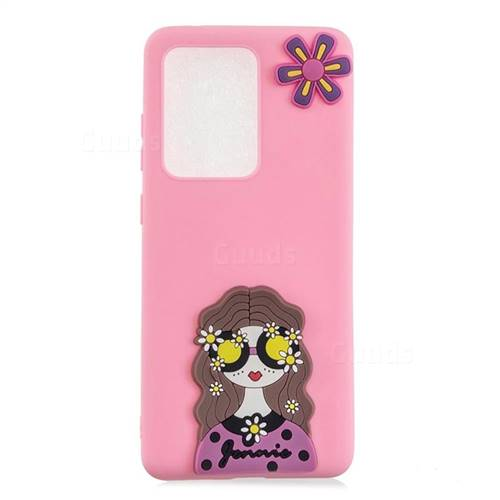 Violet Girl Soft 3D Silicone Case for Samsung Galaxy S20 Ultra / S11 Plus