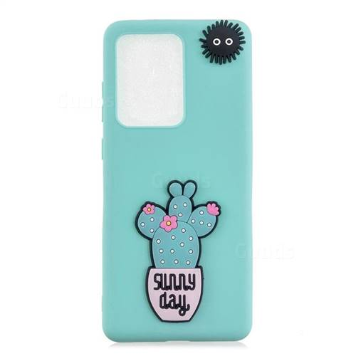 Cactus Flower Soft 3D Silicone Case for Samsung Galaxy S20 Ultra / S11 Plus
