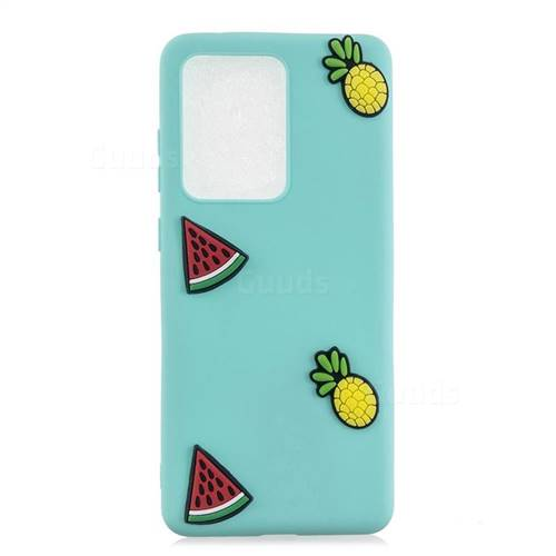 Watermelon Pineapple Soft 3D Silicone Case for Samsung Galaxy S20 Ultra / S11 Plus