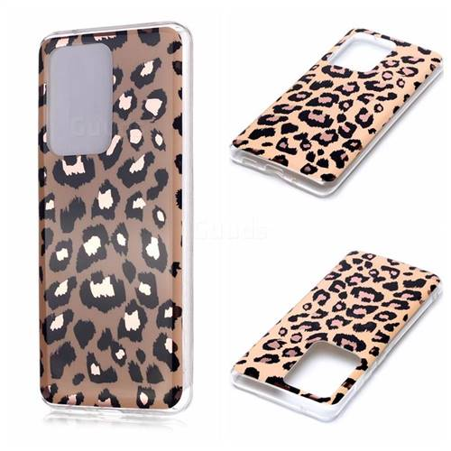 Leopard Galvanized Rose Gold Marble Phone Back Cover for Samsung Galaxy S20 Ultra / S11 Plus