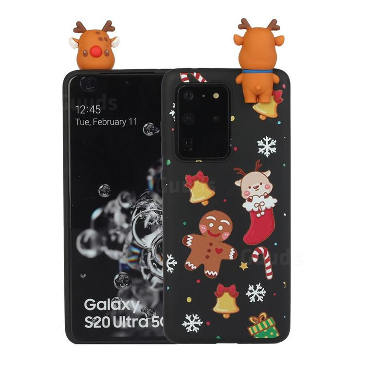Gift Snow Christmas Xmax Soft 3D Doll Silicone Case for Samsung Galaxy S20 Ultra