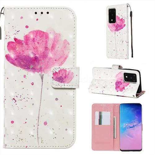 Watercolor 3D Painted Leather Wallet Case for Samsung Galaxy S20 Ultra / S11 Plus