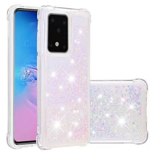 Dynamic Liquid Glitter Sand Quicksand Star TPU Case for Samsung Galaxy S20 / S11e - Pink