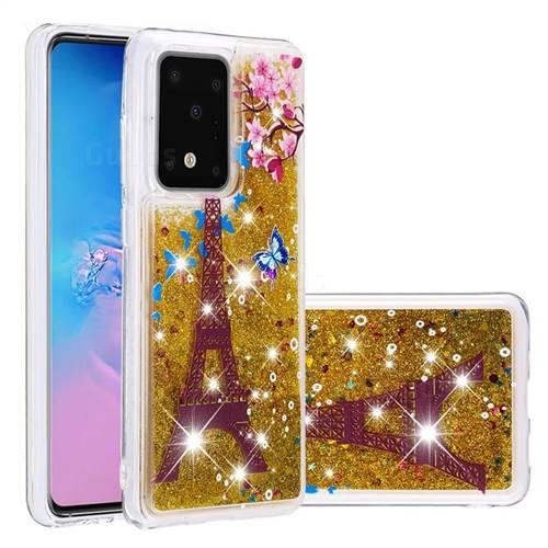 Golden Tower Dynamic Liquid Glitter Quicksand Soft TPU Case for Samsung Galaxy S20 / S11e