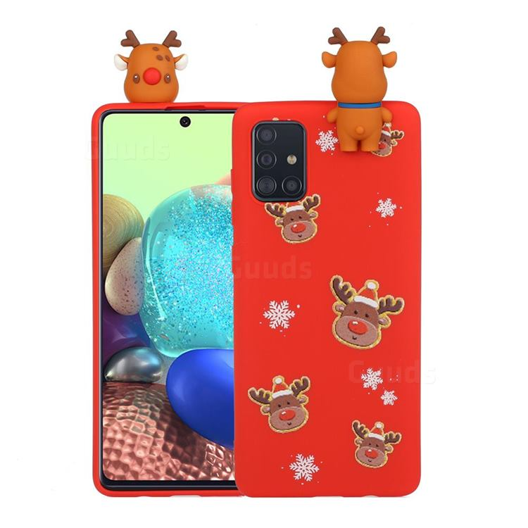 Elk Snowflakes Christmas Xmax Soft 3D Doll Silicone Case for Samsung Galaxy S20